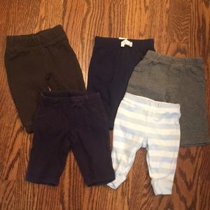 5 pairs newborn pants